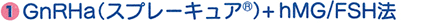 GnRha(スプレーキュア)+hMG/FSH法