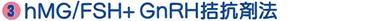 hMG/FSH+ GnRH拮抗剤法
